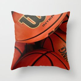 Basketball Banaza Throw Pillow