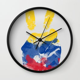 Peace Colombia Wall Clock