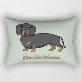 Cute Black Tan Dachshund Dog Doxie Mom Rectangular Pillow