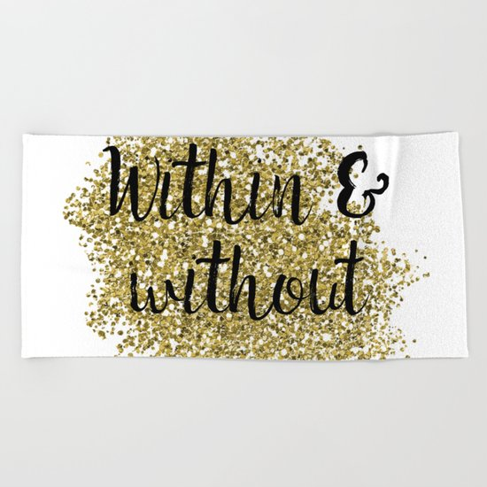 Within and without - golden jazz Beach Towel