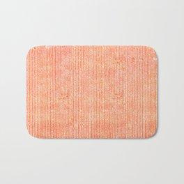 Stockinette Orange Bath Mat