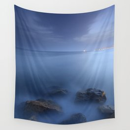 """Blue sea"". Blue hour. Wall Tapestry"