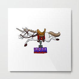illustration of mechanical unicorn Metal Print