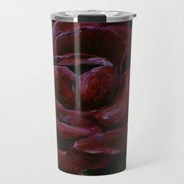 Flower, red rose, gothic beauti Travel Mug