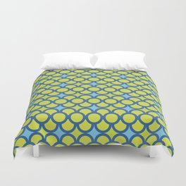 Blue Green Scales Duvet Cover
