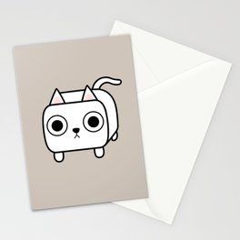 Cat Loaf - White Kitty Stationery Cards