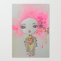 Cotton candy dreaming Canvas Print