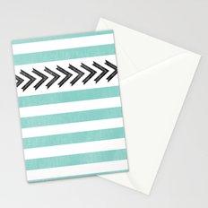 ARROW STRIPE {TEAL} Stationery Cards