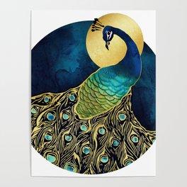 Golden Peacock Poster