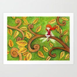 Petite Libellule Art Print