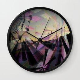 Beach Prisms Wall Clock