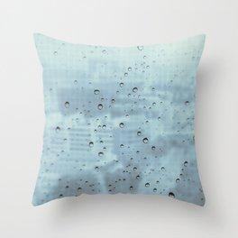 City Rain Drops Throw Pillow