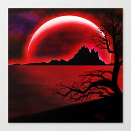 Red Moon Canvas Print