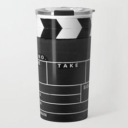 Film Movie Video production Clapper board Travel Mug