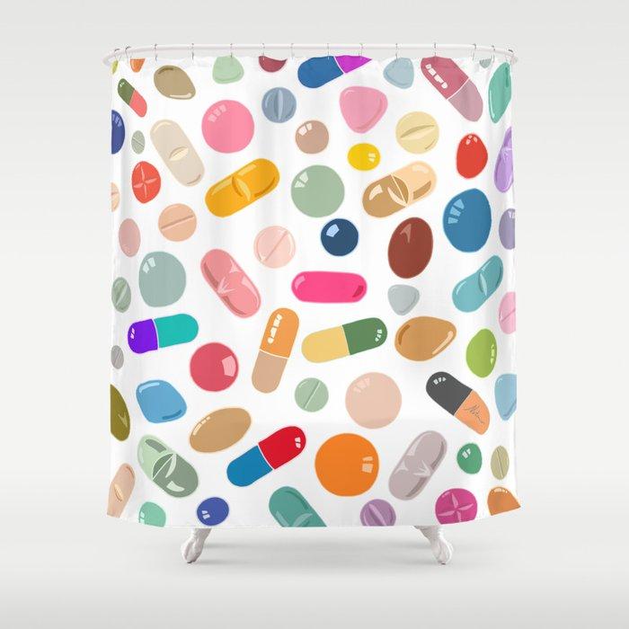 Sunny Pills Shower Curtain