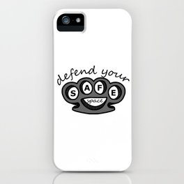 Defend Your Safe Space (Knuckles) iPhone Case