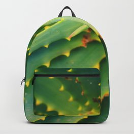 Spiral Green Succulent Aloe Plant Backpack