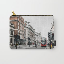 Red bus in Piccadilly street in London Carry-All Pouch