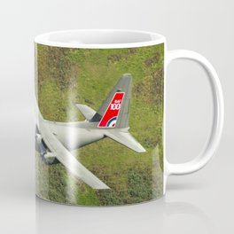Low Flying Hercules With Special RAF Centenary Tail Art Coffee Mug