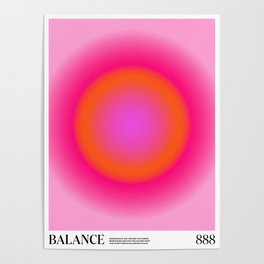 Gradient Angel Numbers: Balance Poster