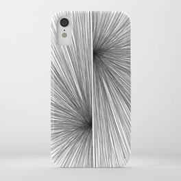 Mid Century Modern Geometric Abstract Radiating Lines iPhone Case