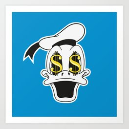 Dollar Duck Art Print