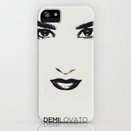 Demilovato Face iPhone Case