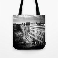 milan Tote Bags featuring milan by Leone Von Dizic