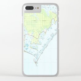 Cape Lookout National Seashore & Morehead City Map Clear iPhone Case