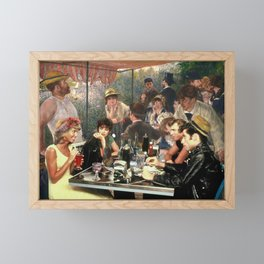Renoir's Luncheon of the Boating Party & Grease Framed Mini Art Print