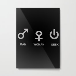 Man Woman Geek Metal Print