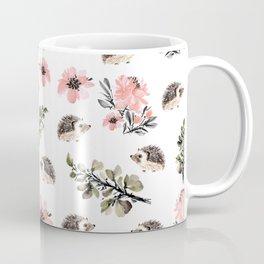 Floral hedgehog Coffee Mug