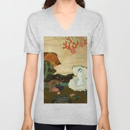 """The Birth of the Pearl"" by Edmund Dulac Unisex V-Neck"