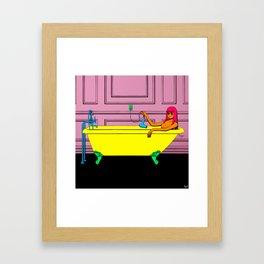 Tub Girl Framed Art Print