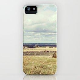 Rural hilly landscape. iPhone Case