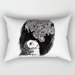 Owl Smoke Rectangular Pillow