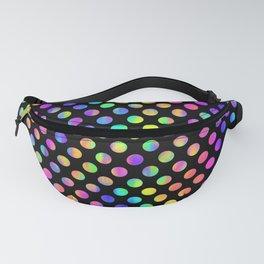 Rainbow Polka Dot Pattern Fanny Pack