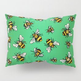 ALL DA BEES (mini) - Green Pillow Sham