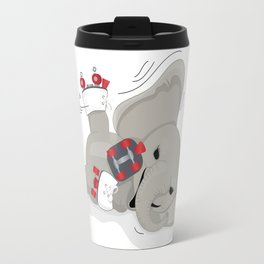 Elephant on skates Travel Mug