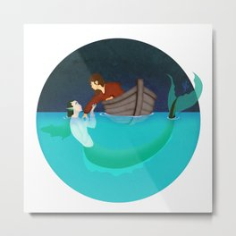 To Drown To Dream Metal Print