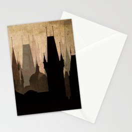 Vintage Made Modern: Cityscape Movie Poster Style Stationery Cards