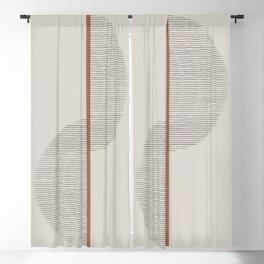 Geometric Composition II Blackout Curtain