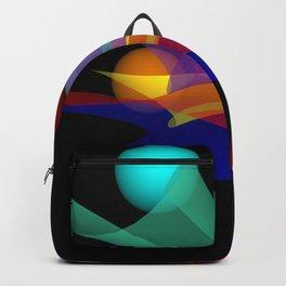 waves on black -01- Backpack