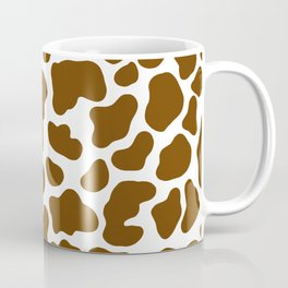 Brown and White Cow Coffee Mug