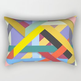Abstract #225 Corners, Intersections & Dead Ends Rectangular Pillow