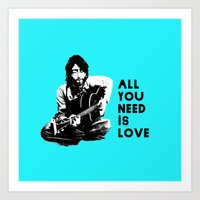 """Lennon """"All You Need Is Love"""" Art Print"""
