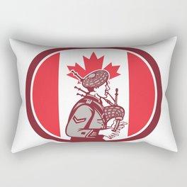 Canadian Bagpiper Canada Flag Icon Rectangular Pillow