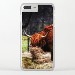 Hairy Coo Clear iPhone Case