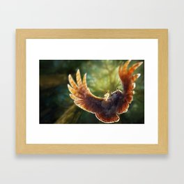 Caught in the moment Framed Art Print
