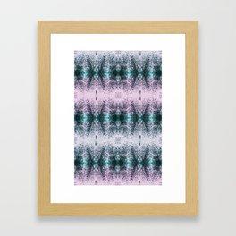 MIDNIGHT FLORAL DREAM Framed Art Print